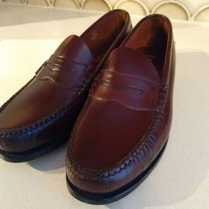 Dexter Shoes - Dexter Leather Penny Loafers Size 8.5 Burgundy